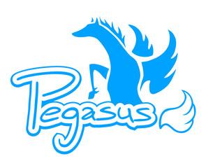 Elegant pegasus symbol