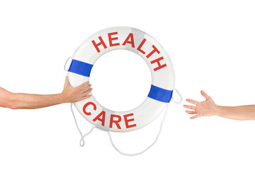 HEALTH CARE life buoy ring help reaching hands