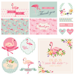 Flamingo Party Set - for Wedding, Bridal Shower