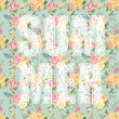 Summer Letters with Flowers - in vector