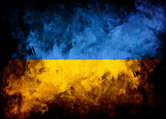 flag of Ukraine grunge texture