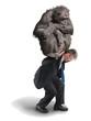 Monkey on Your Back Drug Addiction Financial Burden - 79458100