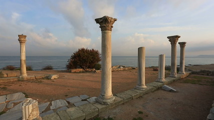 Colonnade in ruins of  Ancient Greek city of Chersonese