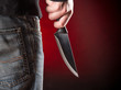 Killer with knife close-up - 79458317