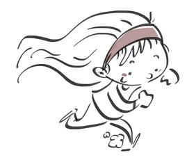 niña corriendo feliz