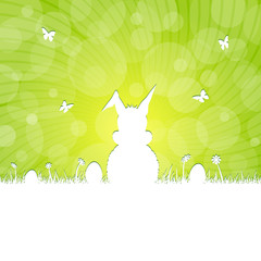 easter silhouette - green
