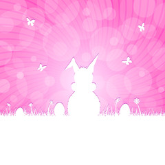 easter silhouette - magenta