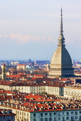 Panorama of Turin with Mole Antonelliana