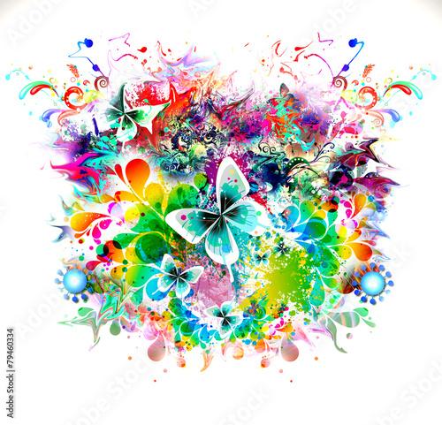 яркий абстрактный фон