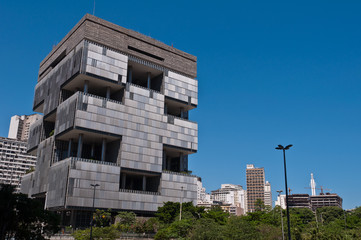 Huge Modern Architecture Building in Downtown Rio de Janeiro