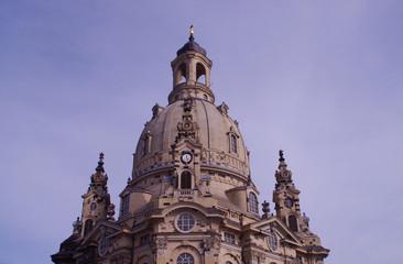 Der Turm der Frauenkirche in Dresden