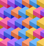 Fototapety Color cubes seamless pattern