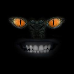 Evil eye in the darkness.