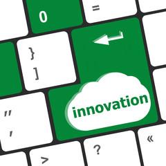 Computer keyboard keys with word Innovation