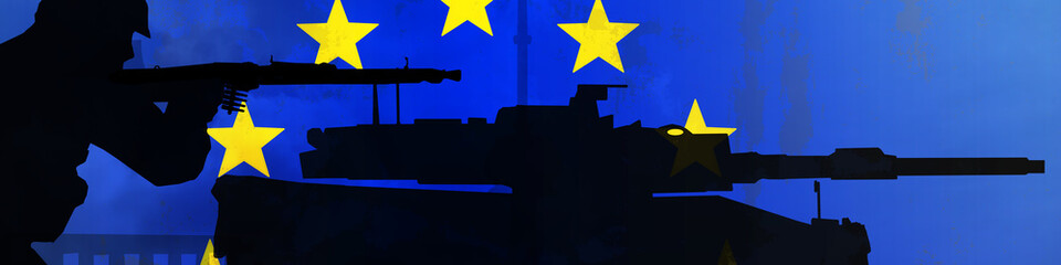 wf4 WarFlag europe flag with soldier and tank teaser-g3175 g3364