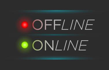 Vector offline and online banner
