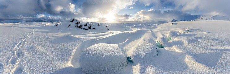Arctic winter panorama - Svalbard