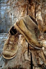 scarponi vecchi vintage