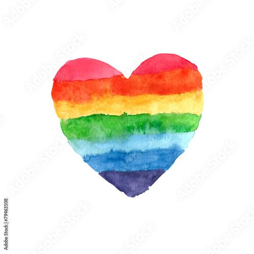 Rainbow heart - 79463508