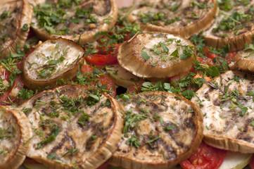 Ratatouille made of white eggplants