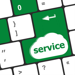 Services keyboard key button - business concept