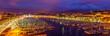 Leinwandbild Motiv View of the Vieux port (Old Port) in Marseille, France