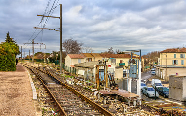 Control post of railway switches - Arles station, France