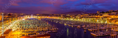 View of the Vieux port (Old Port) in Marseille, France - 79465174