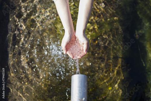 Deurstickers Fontaine Agua fresca.