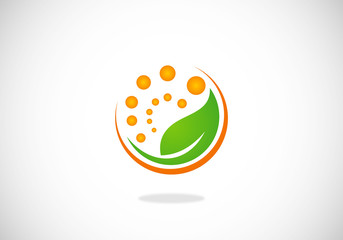 leaf ecology nature symbol vector logo
