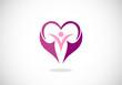 love heart romance vector logo