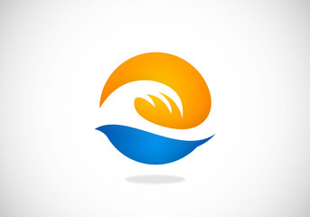 ocean wave sea vector logo