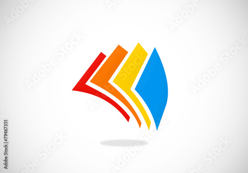 paper document abstract vector logo - 79467351