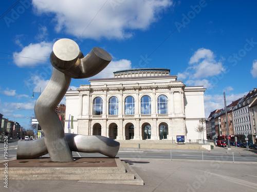 Leinwanddruck Bild Augsburg - Kennedy-Platz