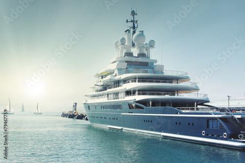 Foto op Canvas Zeilen luxury super yatch