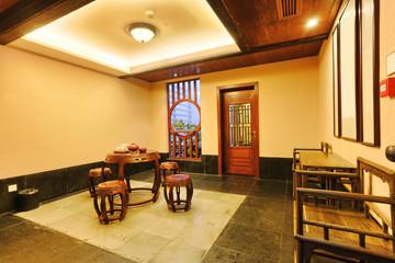 retro decorated house livin groom interior