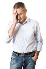 Depressed mature man