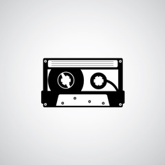 tape cassette vector design