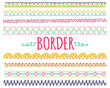 set of colorful hand drawn border - 79469582