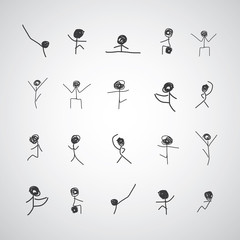 hand drawn body exercise