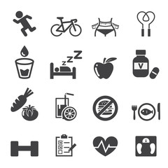 health icon set