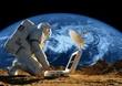 Leinwanddruck Bild - Astronaut