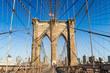 Brooklyn Bridge in summer, New York City