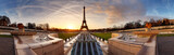 Panorama of Paris at sunrise with Eiffel tower - 79472107