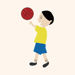 basketball player elements vector,eps