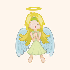 angel theme elements vector,eps