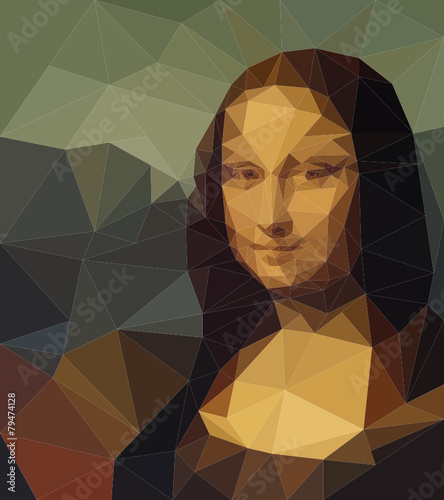 polygonal Mona Lisa portrait - 79474128