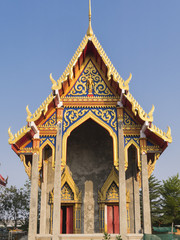 built new chapel in Temple, Bangkok,Thailand