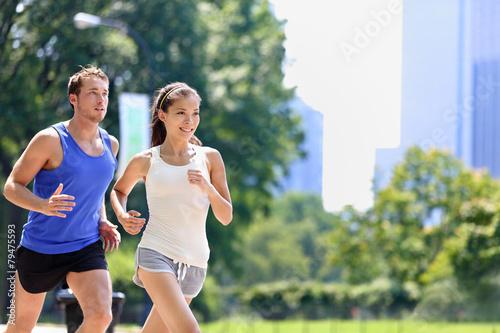 Keuken foto achterwand Persoonlijk Runners jogging in New York City Central Park, USA