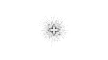 Abstract black and white blast symbols animation